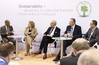 Panel discussion on sustainability at the GIFA trade fair stand of ASK Chemicals