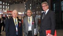 from left to right Hiroyoshi Kimura - Japan Foundry Association, Vinod Kapur - GARGI Hüttenes-Albertus, Thomas Fritsch - Foundry Planet Ltd