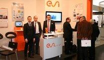 ESI Group, France Hr. Marco Aloe from Calcom ESI (left), Hr. Paul-Xavier Kuentz from ESI GmbH (2nd left), Hr. Sven Mauer from ESI GmbH (3rd left) and Hr. Peter Zakreis from PMD GmbH (4th left)