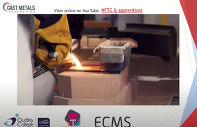 Cast Metals Federation (CMF) Webinar on Casting, Foundry and Patternmaking Apprenticeship is now 'Live'.