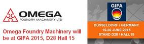Omega Foundry Machinery will be at GIFA 2015, D28 Hall 15