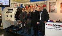 Ferro Crtalic, Slowenia David Blumenauer (left), Mojca Andolsek / General Manager Assistant (2nd left) and Robert Andolsek / Export Manager (3rd left)