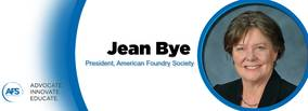Jean Bye becomes president of American Foundry Society, first woman to hold the office