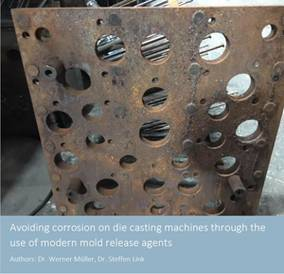 Avoiding corrosion on die casting machines