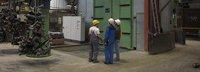RUMP-blasting machine for hand-made castings