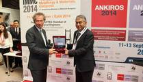 Mr. Vinod KAPUR, President of WFO – World foundry Association with Ibrahim Anil