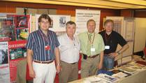 Zeljko Vedris; J. Martienskovic, J. Hagenauer and Rolf Schaumann at the booth of +HAGI+