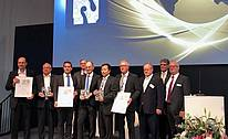 Wolfram Diener, Managing Director of Messe Düsseldorf, awarded the trophies to Impro International Ltd (Hong-Kong), DGH Sand Casting Corporate GmbH & Co. KG (Friedrichshafen, Germany) and Feinguss Blank GmbH (Riedlingen, Germany)