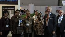 Mr. Ringling, Messe Düsseldorf with the president of the Foundry Association of Indonesia and Malaysia
