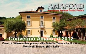 AMAFOND Conference 2012 in Monticelli Brusati, Italy 30.11.12