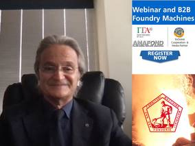 The Italien Suppliers Industry invites German foundries for a free Webinar in May 2021 AMAFOND President Riccardo Ferrario in conversation with Thomas Fritsch (Foundry-Planet)