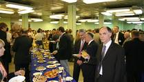 At the Exhibitors' Social Event