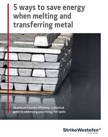 Ways to save energy when melting and transferring metal