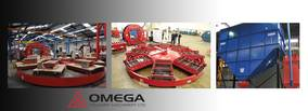 Endeco Omega 8-station carousel moulding line installed at wear resistant product manufacturing foundry