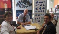 Zeljko Vedris (Pro Ferrum), Steve Caster (TMG), Miro Hrzenjak and Milorod Vasilic (MIV) under discussion