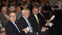 from left, Dr.Timo Würz (VDMA), Gerd Röders, Dr. Roland Fleck und Peter Ottmann
