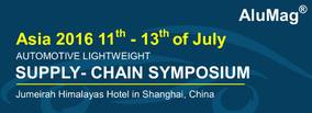 Final Call - Automotive Lightweight Supply-Chain Symposium With Webasto Shanghai Plant Tour, Shanghai 11th - 13th of July 2016
