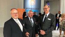Dipl-Ing. Heinz Nelissen (Foseco), Dr.-Ing. Erwin Flender (Magma), Wolfram Diener (Messe Düsseldorf)